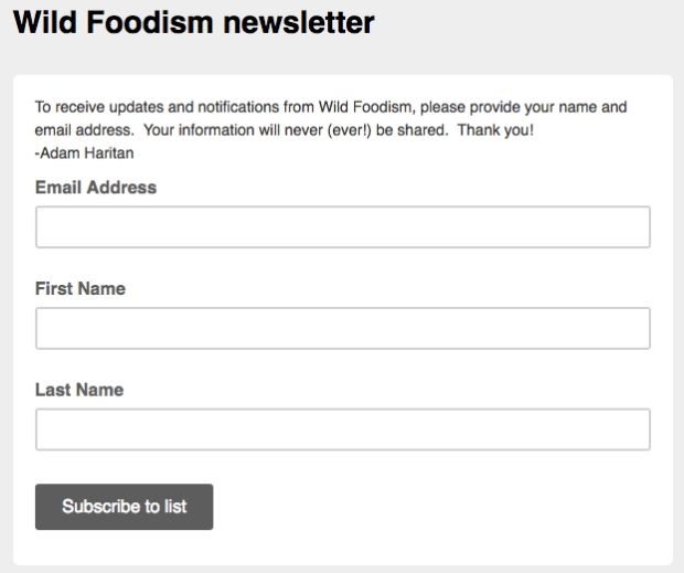 wildfoodismsignup